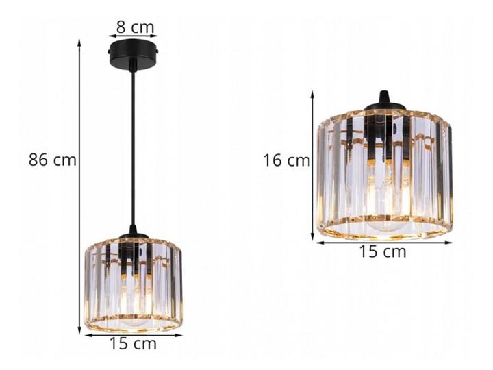 Regulowana Lampa Wisząca ze Szklanym Kloszem Lampa z kloszem Ilość źródeł światła 1 źródło Szkło Metal Styl Nowoczesny