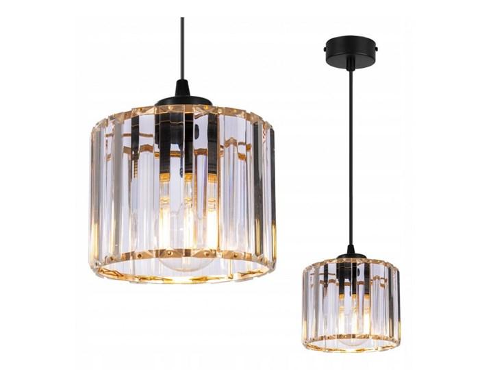 Regulowana Lampa Wisząca ze Szklanym Kloszem Metal Lampa z kloszem Szkło Kolor Szary