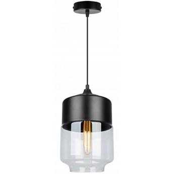 Nowoczesna Lampa Wisząca ze Szklanym Kloszem ze Szkła o Podłużnym Kształcie