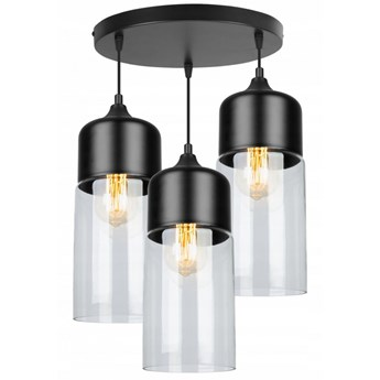 Nowoczesna Lampa ze Szklanymi Kloszami o Wydłużonym Kształcie w Stylu Loft