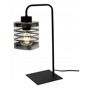 Nowoczesna Lampa Stołowa ze Szklanym Kloszem z Ozdobnym Detalem