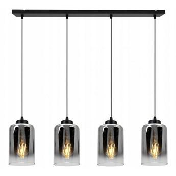 Zjawiskowa Regulowana Lampa w Stylu Industrialnym ze Szklanym Kloszem