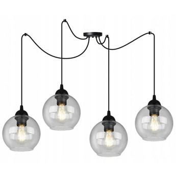 Nowoczesna Lampa Loft z Czterema Szklanymi Kloszami