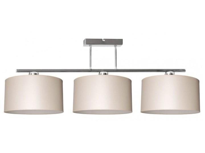 Nowoczesna Lampa z Abażurami Chrom Sufitowa Metal Kategoria Lampy wiszące Lampa z kloszem Lampa z abażurem Kolor Biały