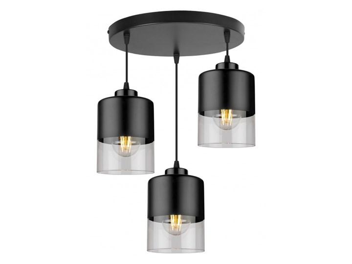 Lampa Wisząca Nowoczesna ze Szklanymi Kloszami z Metalu Lampa z kloszem Styl Nowoczesny Szkło Kategoria Lampy wiszące