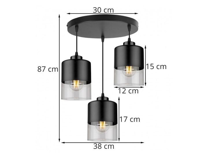 Lampa Wisząca Nowoczesna ze Szklanymi Kloszami z Metalu Szkło Lampa z kloszem Styl Nowoczesny