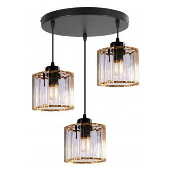 Elegancka Lampa Wisząca ze Szklanymi Złotymi Kloszami