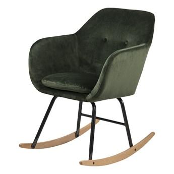 SELSEY Fotel bujany Enisa zielony welurowy