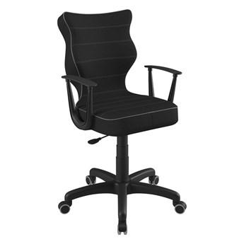 SELSEY Krzesło biurowe Norm czarne z efektem melanżu