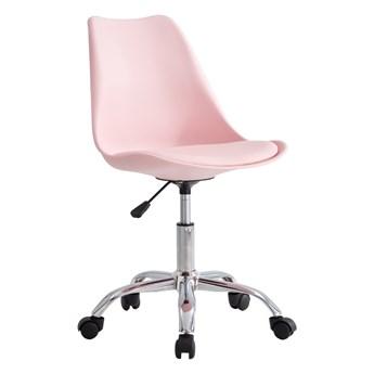 SELSEY Fotel biurowy Djum II różowy