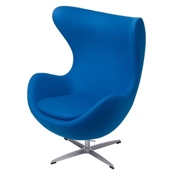 SELSEY Fotel Jajo niebieski