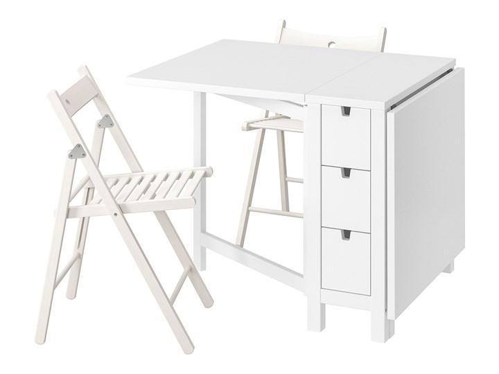 IKEA NORDEN / TERJE Stół i 2 składane krzesła, biały/biały, 26/89/152 cm