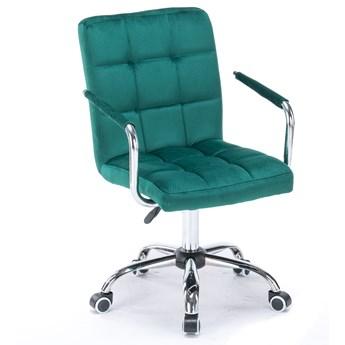 Krzesło biurowe welurowe HARRIS (SC-ZT1305) / obrotowe, zielone