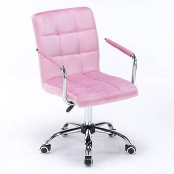 Krzesło obrotowe, biurowe HARRIS (SC-ZT1305) / welur różowe