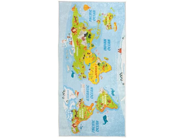 Dywan Dziecięcy Mapa 80 x 150 cm 80x150 cm Pomieszczenie Pokój przedszkolaka Poliester Dywany Wzór Zwierzęcy