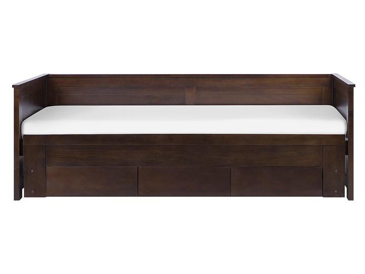 Łóżko brązowe drewniane 90/180 x 200 cm ze stelażem wysuwane dodatkowe łóżko 3 szuflady skandynawskie Drewno Liczba miejsc Jednoosobowe