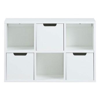 Biała półka wisząca z szufladami - Monas 5X