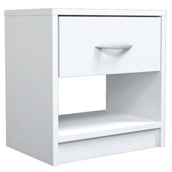 Biała szafka nocna z szufladą - Goya