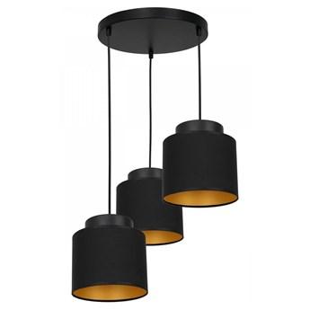 Żyrandol na lince FRODI 3xE27/60W/230V czarny owalny