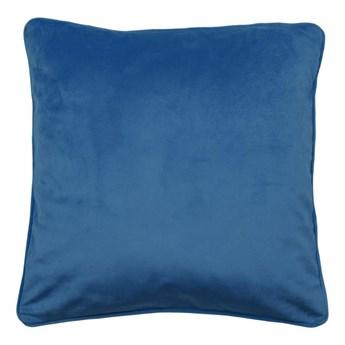 Poduszka welurowa Velutto ciemnoniebieska 45 x 45 cm