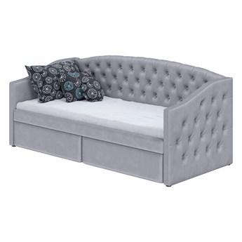 Łóżko z szufladami 90X200 D032 szary welur