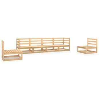 vidaXL 6-cz. zestaw wypoczynkowy do ogrodu, lite drewno sosnowe