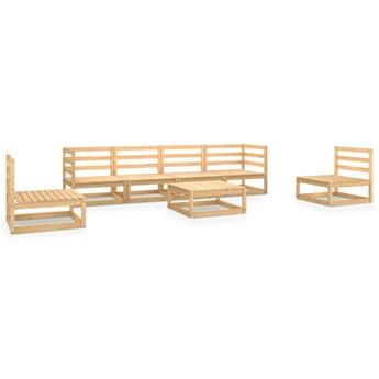 vidaXL 7-cz. zestaw wypoczynkowy do ogrodu, lite drewno sosnowe