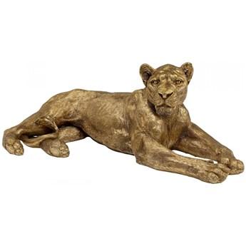 Dekoracja stojąca Lion 113x40 cm złota
