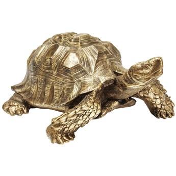 Dekoracja stojąca Turtle XL 95x43 cm złota