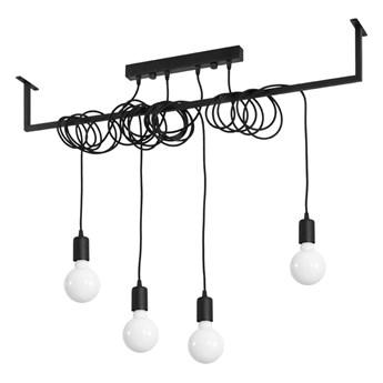 Czarna lampa wisząca Nice Lamps Vakors, dł. 100 cm