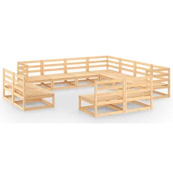 vidaXL 11-cz. zestaw wypoczynkowy do ogrodu, lite drewno sosnowe