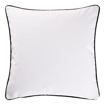 SELSEY Poduszka dekoracyjna Elatus w tkaninie PET FRIENDLY 45x45 cm białoczarna