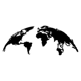 SELSEY Dekoracja ścienna Algieba 120x47 cm czarna