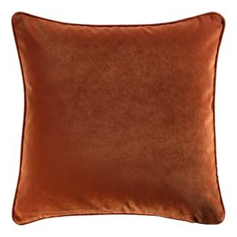SELSEY Poduszka dekoracyjna Elatus w tkaninie PET FRIENDLY 45x45 cm palona pomarańczowa