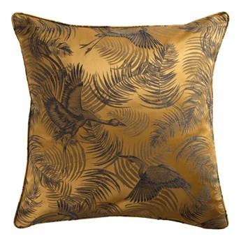 SELSEY Poduszka dekoracyjna Halthel 45x45 cm złota z wzorem