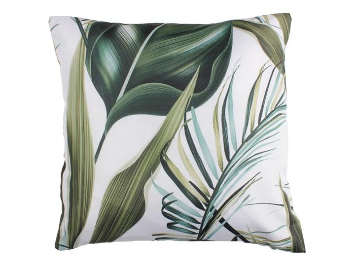 SELSEY Poduszka Sibylla 45x45 cm biała Poduszka dekoracyjna Kwadratowe Pomieszczenie Salon Poliester Kolor Zielony