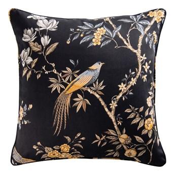 SELSEY Poduszka dekoracyjna Lancelata 45x45 cm czarna z wzorem