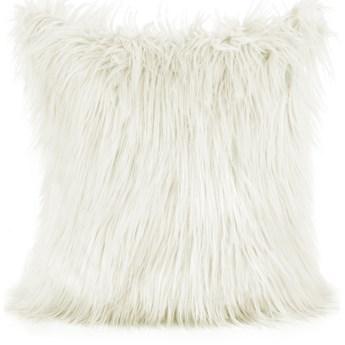 SELSEY Poszewka na poduszkę Neiryl 40x40 cm z długim włosiem kremowa