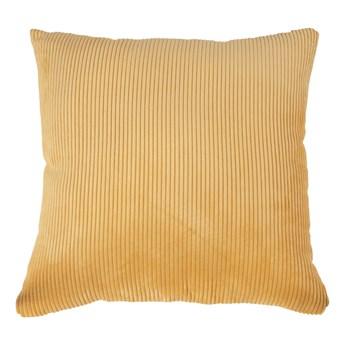 SELSEY Poduszka dekoracyjna Curlos z podszewką żółty sztruks 45x45 cm