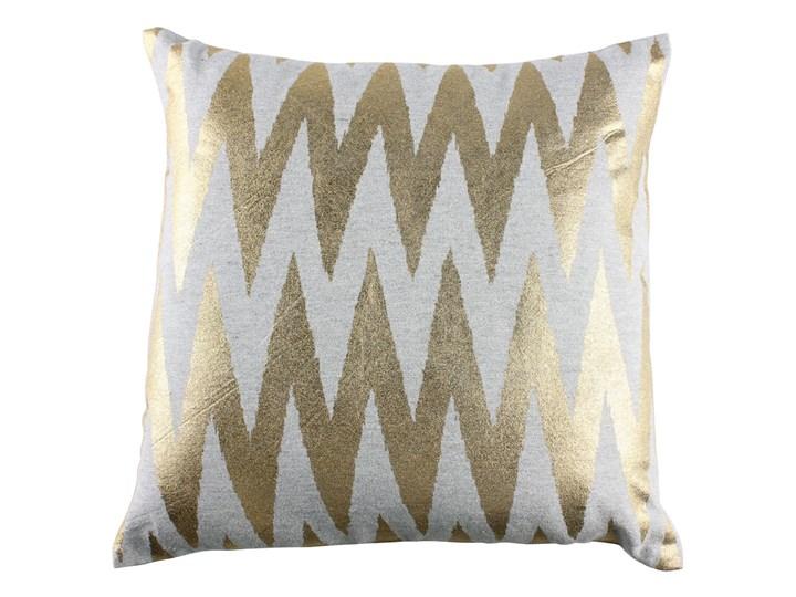 SELSEY Poduszka Euris 45x45 cm szara ze złotym nadrukiem Wzór Geometryczny Kwadratowe Poliester Poduszka dekoracyjna Wzór Z nadrukiem