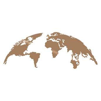 SELSEY Dekoracja ścienna Algieba 100x39 cm miedziana
