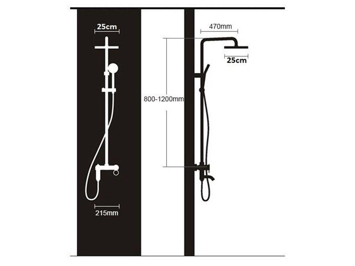 Okrągły czarny zestaw prysznicowy z termostatem Wyposażenie Z słuchawką Wyposażenie Z deszczownicą