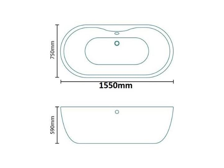 Wanna wolnostojąca 150cm LISBON Akryl Długość 150 cm Wolnostojące Kategoria Wanny
