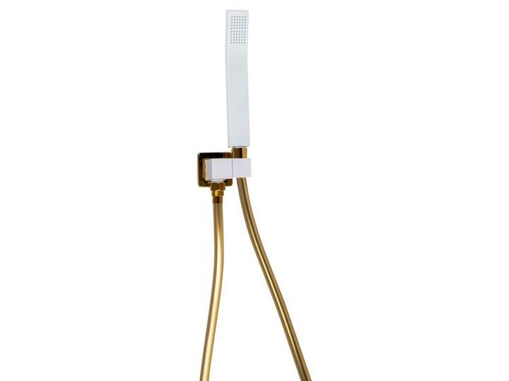 Biało złoty zestaw prysznicowy podtynkowy Wyposażenie Z deszczownicą Wyposażenie Z baterią