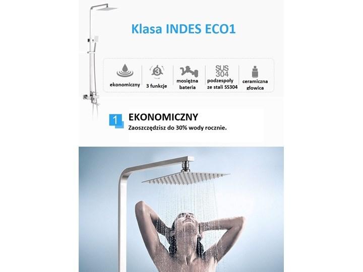 Srebrny chrom zestaw prysznicowy deszczownica Wyposażenie Z słuchawką Kategoria Zestawy prysznicowe