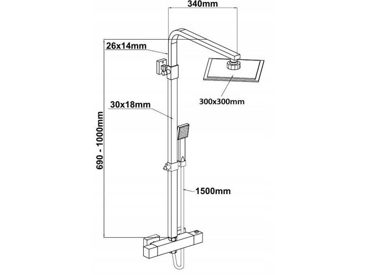 Złoty zestaw prysznicowy z Termostatem Wyposażenie Z deszczownicą Wyposażenie Z słuchawką