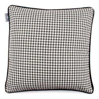Czarno-biała poszewka na poduszkę WeLoveBeds Check, 45x45 cm