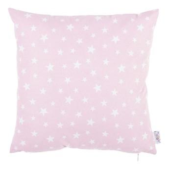 Różowa bawełniana poszewka na poduszkę Mike & Co. NEW YORK Mirro, 35x35 cm