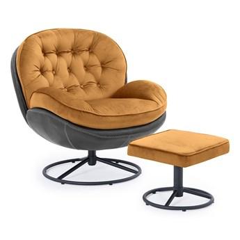 Fotel obrotowy z podnóżkiem MALI pomarańczowy