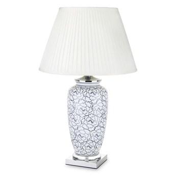LAMPA CERAMICZNA Z KLOSZEM FLORESO 46x46X74 CM